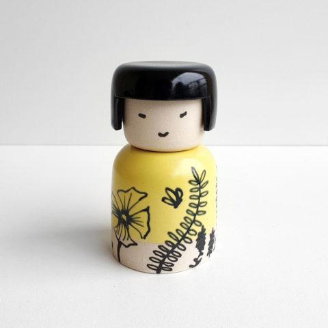 kokeshi ceramique liberte