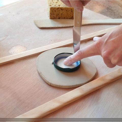 faire une base pour un verre en poterie