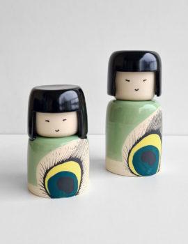 Kokeshi japonaise en céramique